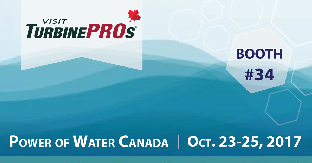 TurbinePROs Waterpower Week CAN Oct 2017 01